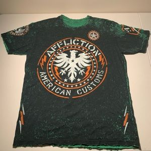 Affliction Double sided T shirt